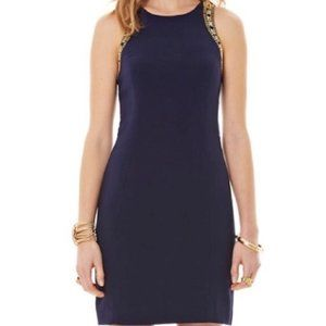 Lilly Pulitzer 'Chrissy' Beaded Crepe Shift Dress